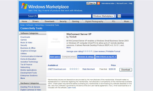 Windows Market Place